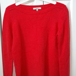 Bright orange Madewell wool sweater